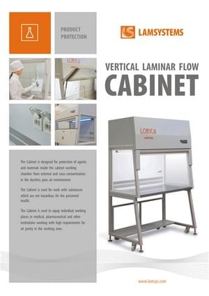 "Download brochure ""Vertical Laminar Flow Cabinet"""